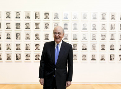 George Mitchell at the Hugh Lane Gallery in Dublin today
