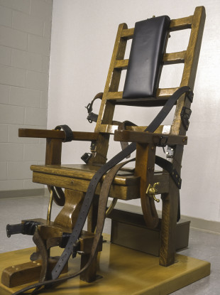 File photo of an electric chair at the Greensville Correctional Center in Virginia, US