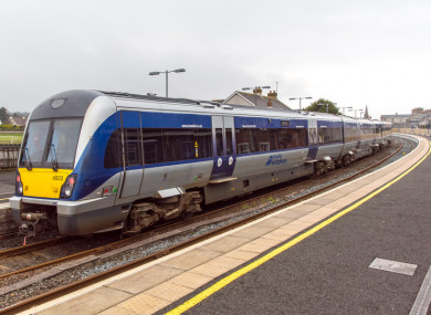 File image: A Translink Train at Castlerock Station in Co Derry.