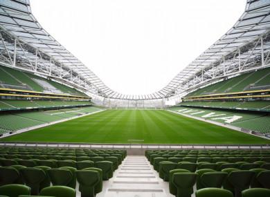 Irish Rugby's home at the Aviva Stadium