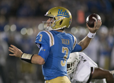 Josh Rosen could be the first overall draft pick this month.