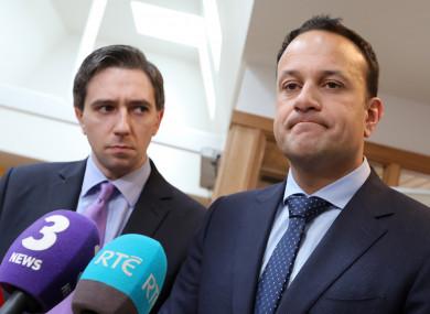 Minister for Health, Simon Harris and Taoiseach Leo Varadkar.