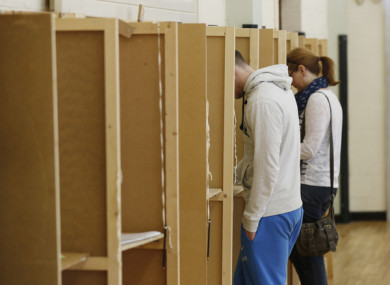 File photo: Members of the public casting votes