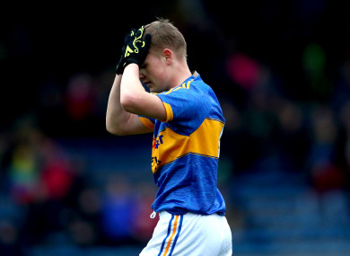 A dejected Christy McDonagh of Tipperary (file photo).