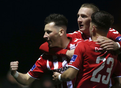 Derry City face Cork at the Brandywell this evening.