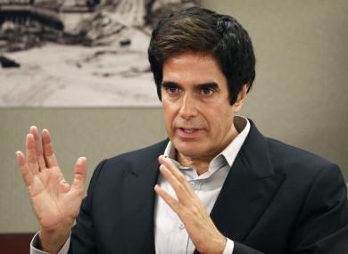 David Copperfield appears in court in Las Vegas.