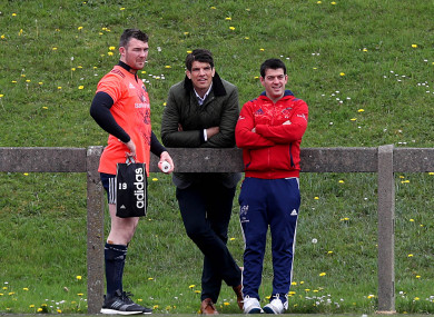 O'Callaghan at Munster training last year.