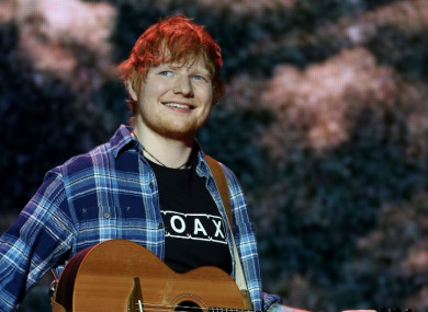 File photo of Ed Sheeran performing
