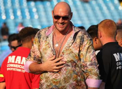 Former world heavyweight champion Tyson Fury.