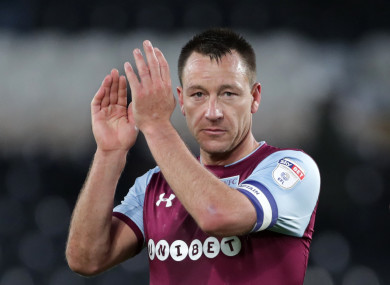 Villa captain Terry has made 35 appearances in all competitions this season.