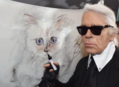 Karl Lagerfeld, head creative director of Chanel.