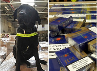 The seizure was made at a business premises in Meath yesterday.