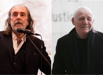 Waters (l) and Dunphy (r).