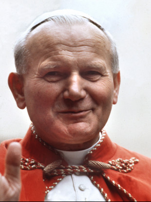 Pope John Paul II, recorded in October 1979 in New York during his US trip.