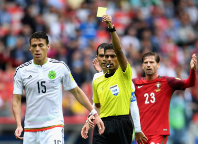 The official took charge of the Confederations Cup third place playoff last summer.
