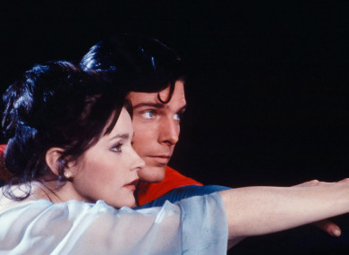 Kidder opposite Christopher Reeve in Superman