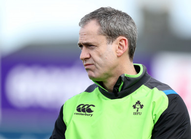 Tierney was defence coach for the U20 Six Nations earlier this year.