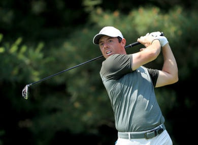 McIlroy pictured at the Memorial Tournament on Saturday.