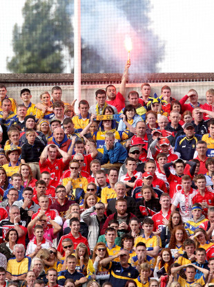 Fans who bring flares or smoke bombs to Sunday's Munster final will
