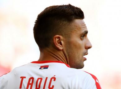 Serbia international Dusan Tadic
