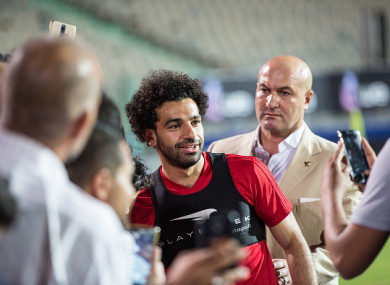 Salah pictured during Egypt's final training session in Cairo last week.