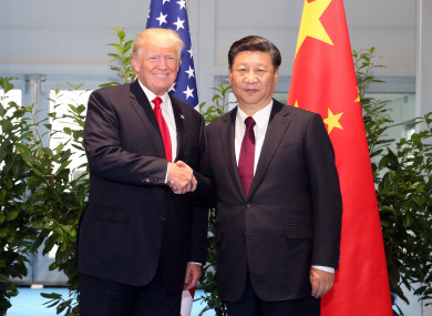 Trump said he has  an excellent relationship with President Xi Jinping, but the United States will