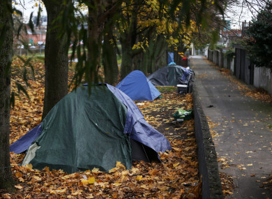 File photo of tents along the Royal Canal.