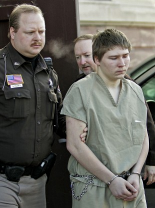 Brendan Dassey, is escorted out of a Manitowoc County Circuit courtroom. (March 2006)