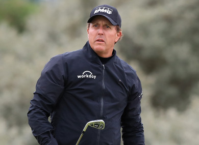 Phil Mickelson (file pic).
