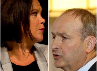 The Sinn Féin and Fianna Fáil leaders.