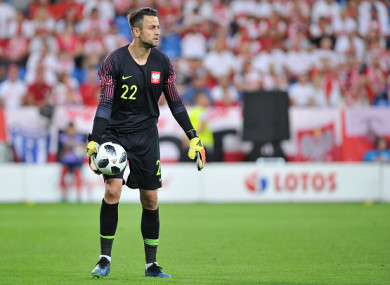 Fabianski is currently in Russia with the Polish national team.