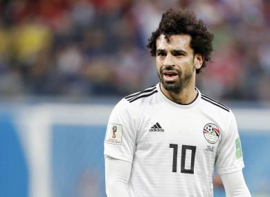 Mo Salah has struggled with injury at the World Cup.