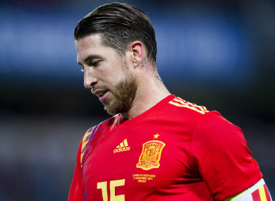 Spain captain Sergio Ramos