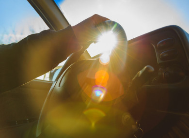 Sun glare can cause problems for drivers.
