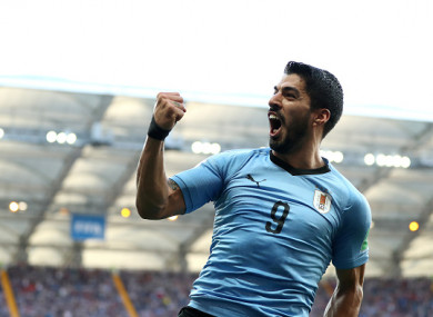 c39b14d9921 Suarez leads Uruguay to the knockout stages as Saudi Arabia exit World Cup