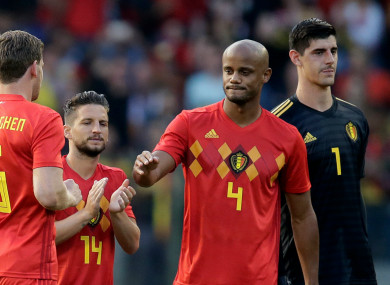 Vincent Kompany ahead of Belgium-Portugal
