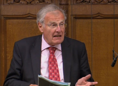 Christopher Chope speaking in the House of Commons.