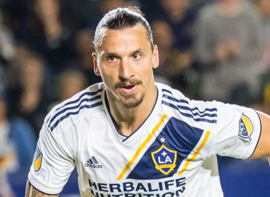 LA Galaxy star Zlatan Ibrahimovic