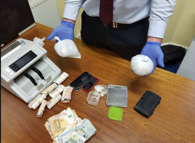 A file photo of a garda heroin seizure.