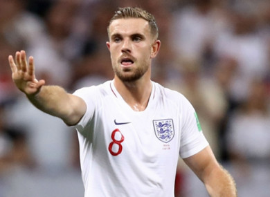 Jordan Henderson: led England to the World Cup semi-finals.