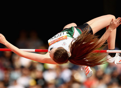 Lecky will compete in Sunday's high jump final.