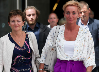 Sister and victims Deirdre Fahy and Stephanie Hickey outside court.