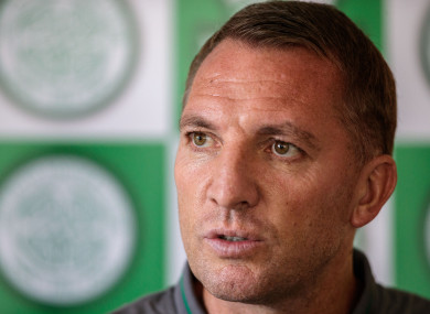Brendan Rodgers speaking during a press conference in Dublin on Friday.