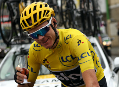 Four-time Tour de France winner Chris Froome