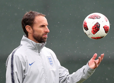 Southgate and his side are preparing for Saturday's clash with Sweden.
