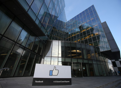 File photo. Facebook's European headquarters in Dublin