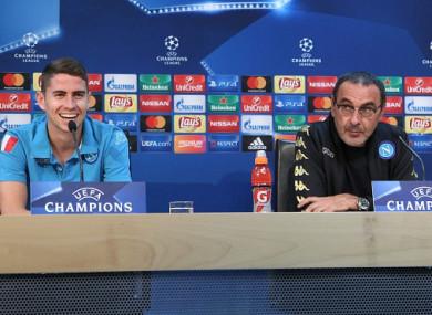 Chelsea-bound? Jorginho and Sarri.