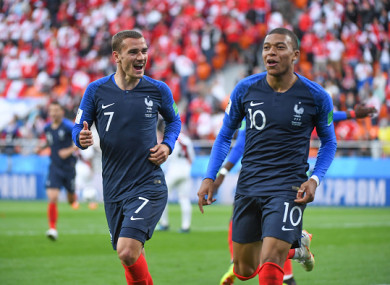 The pair have scored a combined six goals at the World Cup for France.