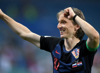 Key man: Croatia captain Luka Modric.