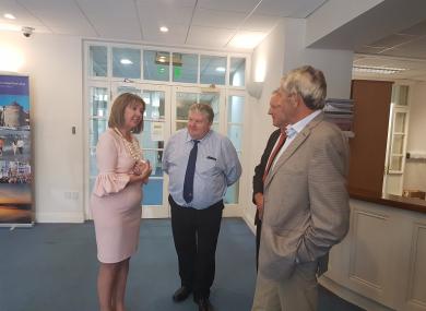 Joan Freeman meets members of Waterford Council.